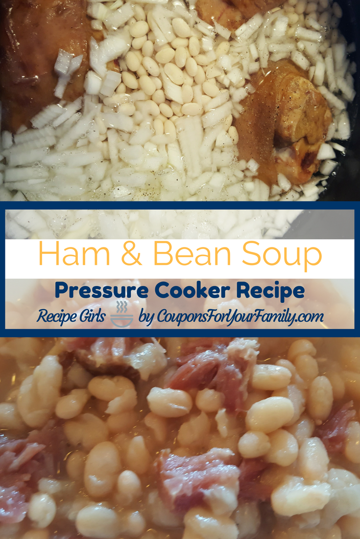 Pressure Cooker Ham and Bean Soup Recipe