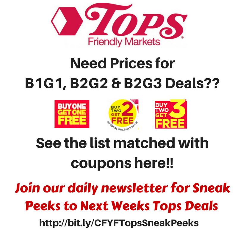 Full List of Tops B1G1 deals 5/13-5/19:  B1G1 Pepsi Mini Cans, Tide Simply, B2G2 Wise Potato Chips, B2G1 Farberware Gadgets & more