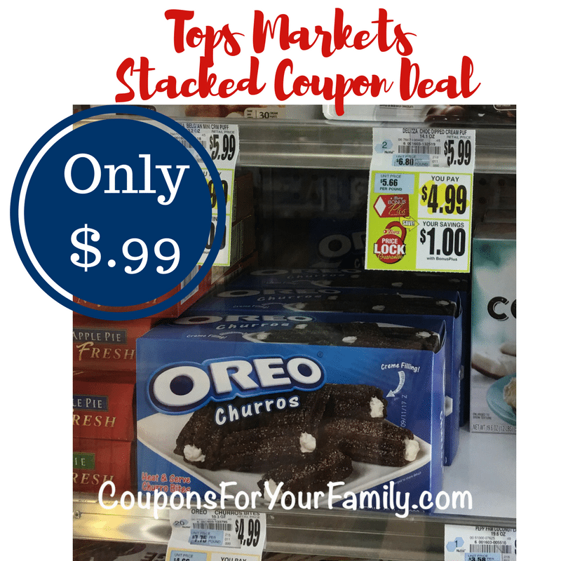 Another Tops Coupon Deal Oreo Churros only $.99 each with stacked offers!!!