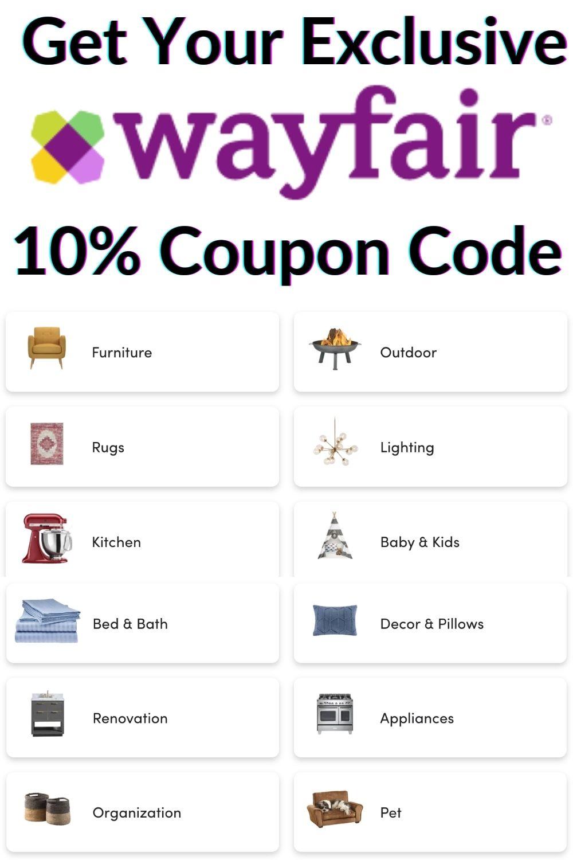 Wayfair 10% Coupon Code