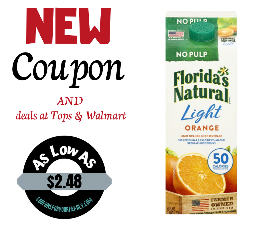 Florida's natural orange juice coupon