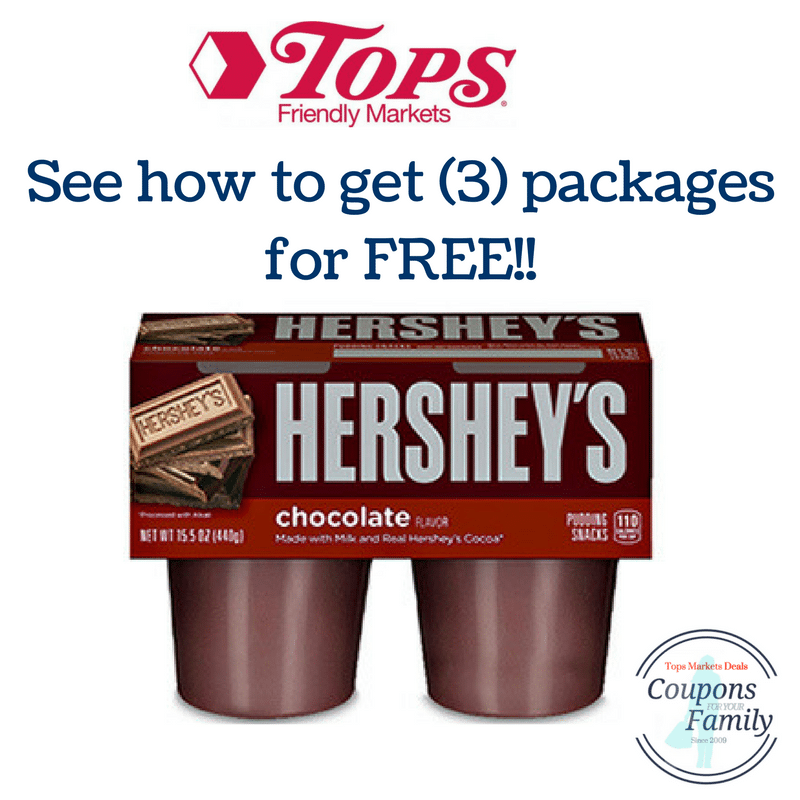 Another Tops Coupon Deal Hershey Pudding 4 pk for FREE!!