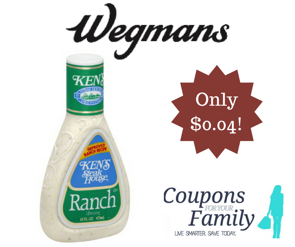 Check out this Buffalo Wegmans Coupon Deal Kens Dressing for only $.04!!!