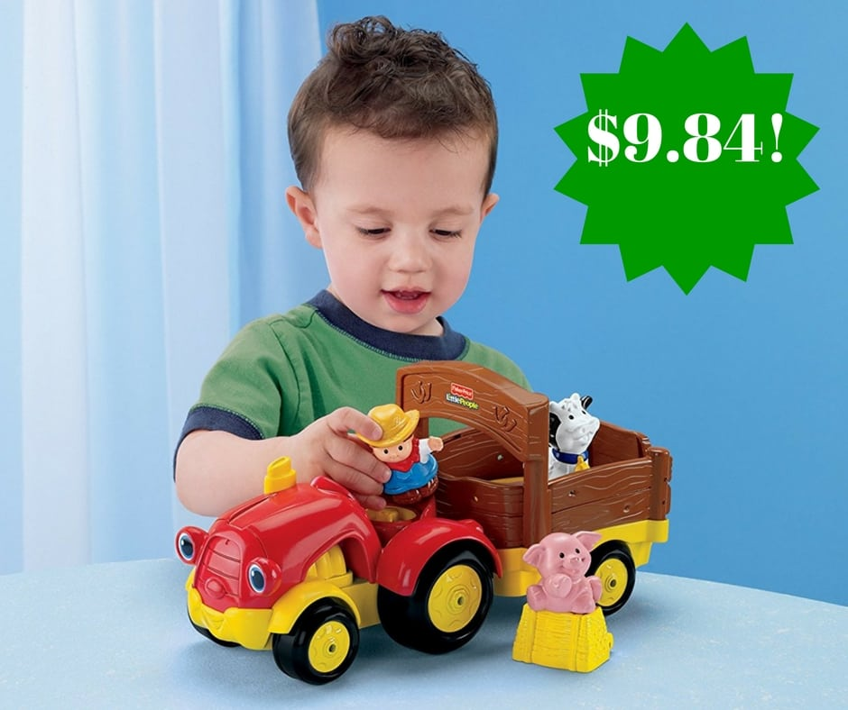 Amazon: Fisher-Price Little People Tow 'n Pull Tractor Only $9.84 (Reg. $18)