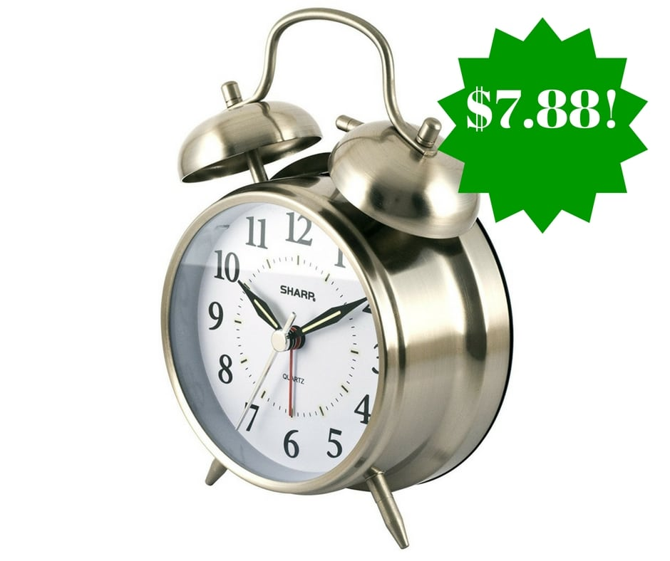Amazon: Sharp Quartz Twin Bell Alarm Clock Only $7.88 (Reg. $17)