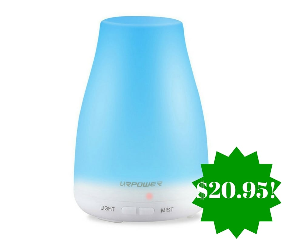 amazon  urpower 2nd version essential oil diffuser only  20 95  reg   70