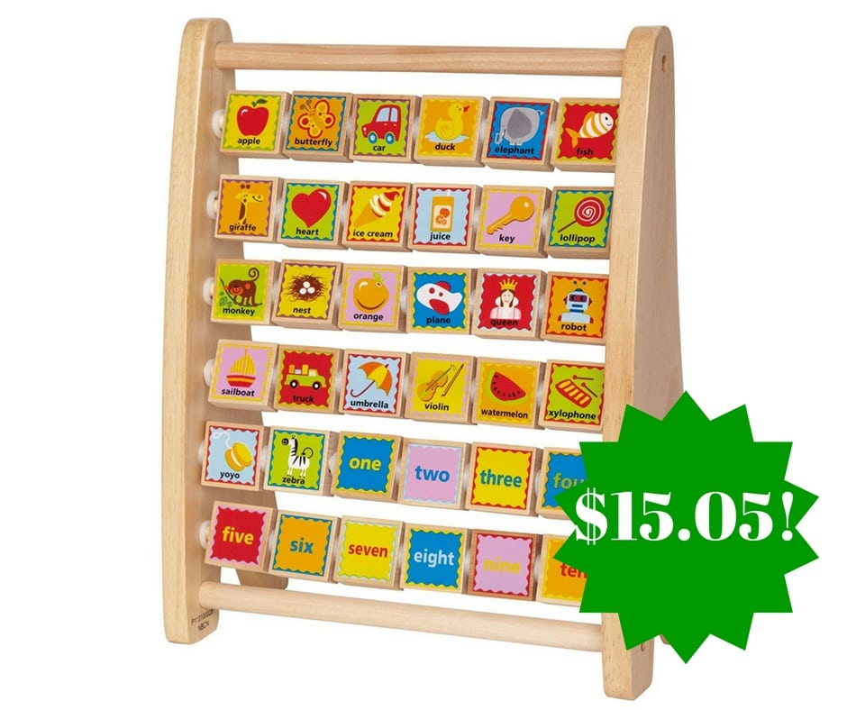 Amazon: Hape Alphabet Abacus Wooden Counting Toy Only $15.05 (Reg. $25)