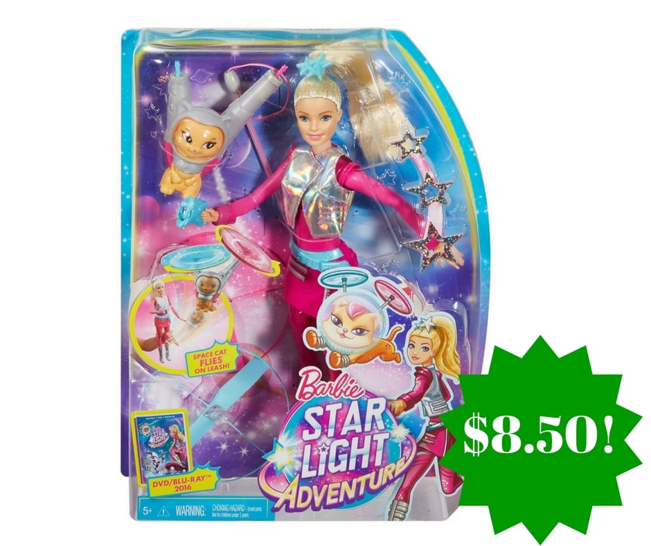 Amazon: Barbie Star Light Galaxy Barbie Doll & Flying Cat Only $8.50 (Reg. $25)