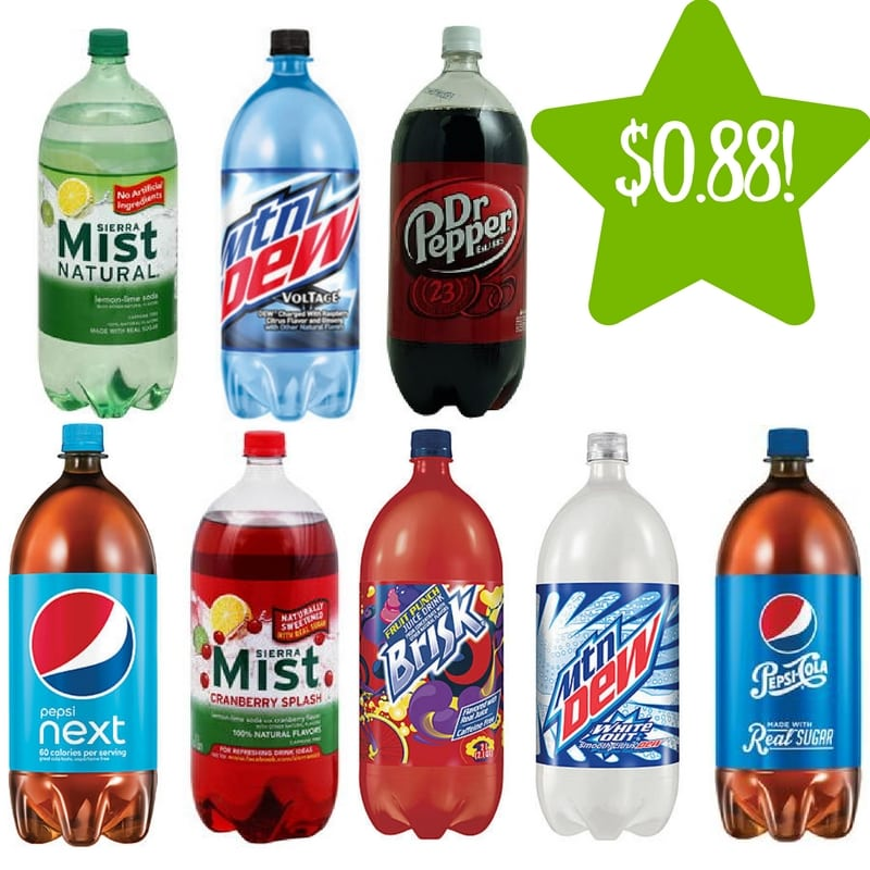 Kmart: Dr. Pepper & Pepsi 2 Liters Only $0.88