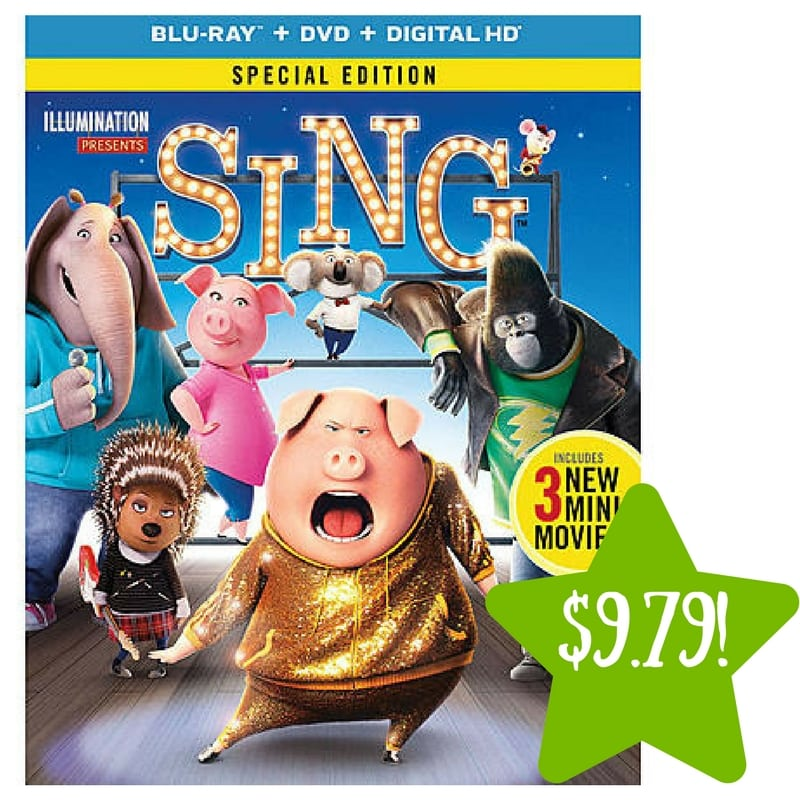 Kmart: Sing Blu-ray / DVD / Digital HD Only $9.79 After Points (Reg. $20)