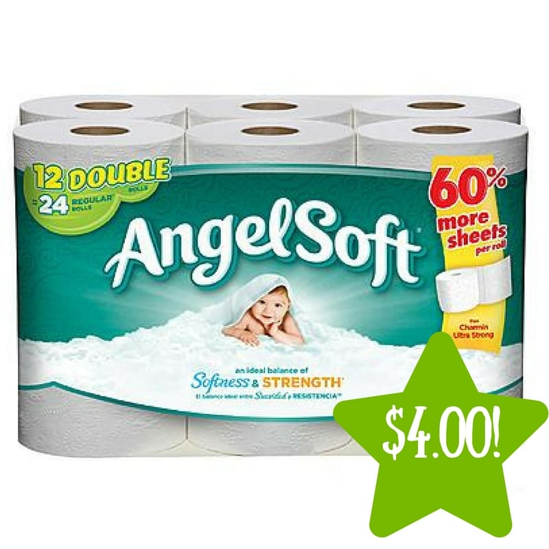 Kmart: Angel Soft Bathroom Tissue Double Rolls Only $4.00