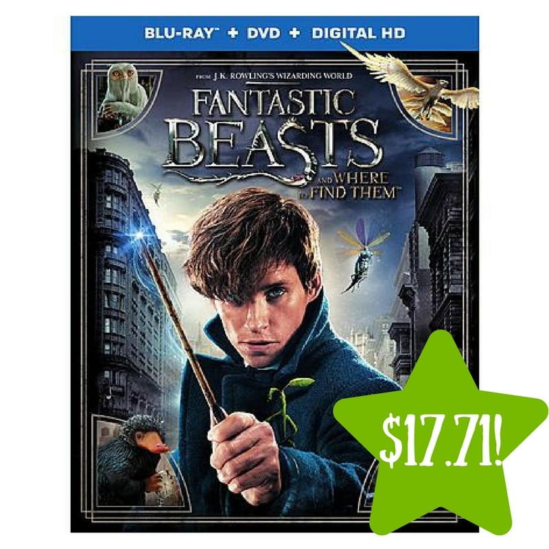 Kmart: Fantastic Beasts and Where to Find Them (Blu-ray / DVD / Digital HD) Only $17.71 After Points (Reg. $30)
