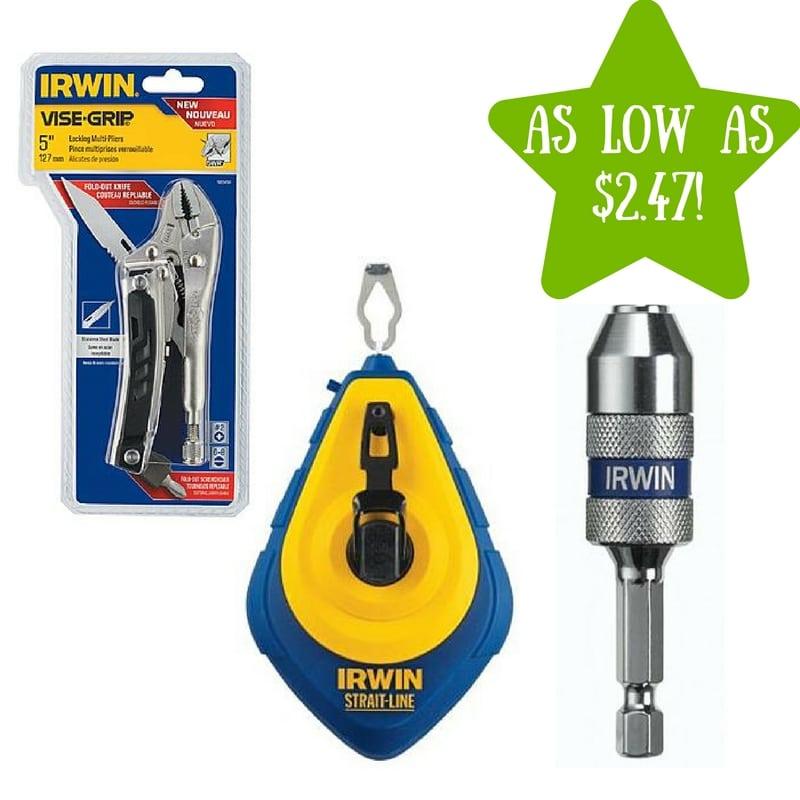 Sears: Irwin Tools Under $10