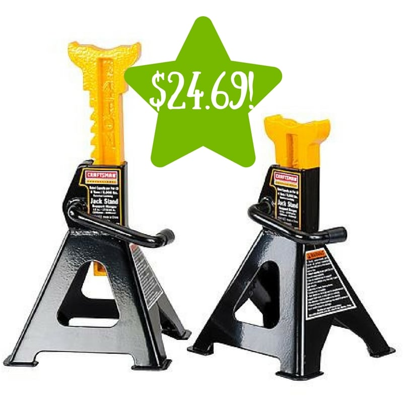 Sears: Craftsman Professional 4 -Ton Jack Stands Only $24.69 After Points (Reg. $54.99)