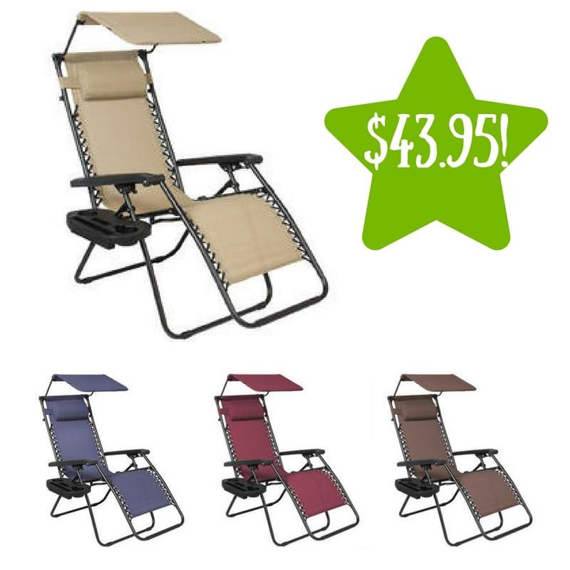 Sears: Best Choice Folding Zero Gravity Recliner Lounge Chair Only $43.95  (Reg. $150
