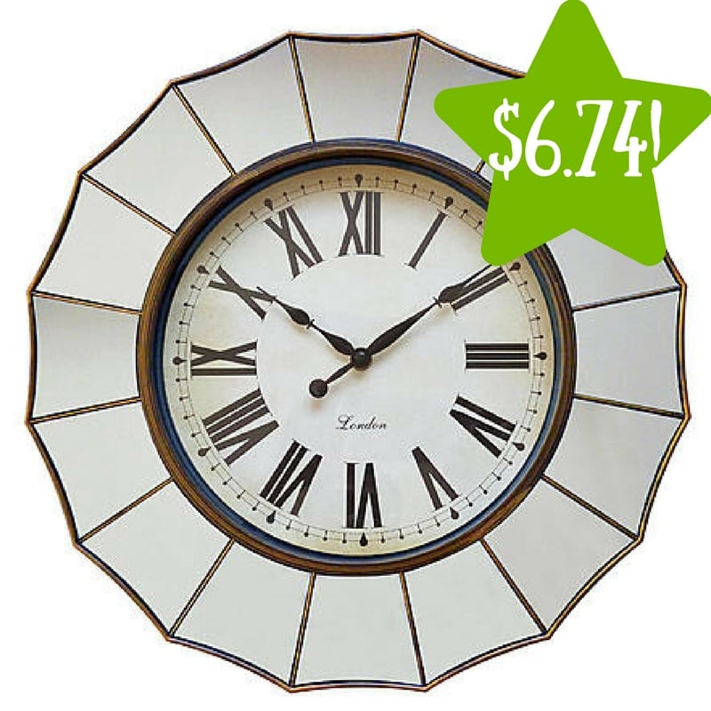 Sears: Global Shores Collection Mirror Clock Only $6.74 (Reg. $15)