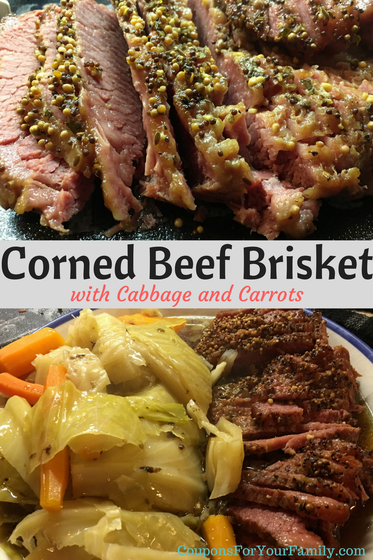 Corned Beef Brisket with Cabbage and Carrots