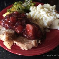Roasted Pork Loin with Cranberry Apple Sauce