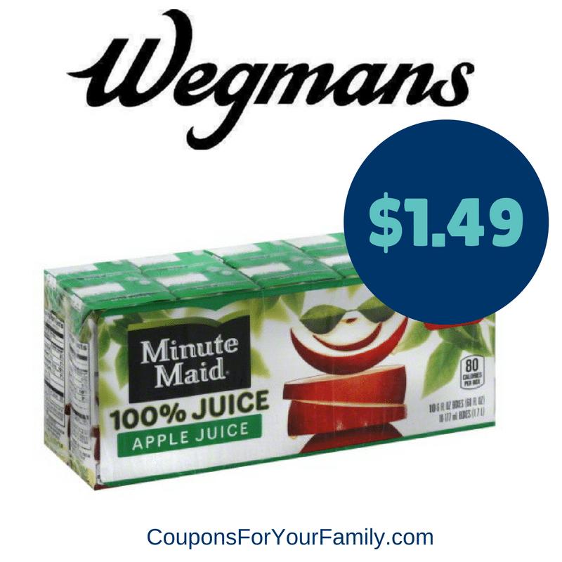 Wegmans Coupon Deal Minute Maid