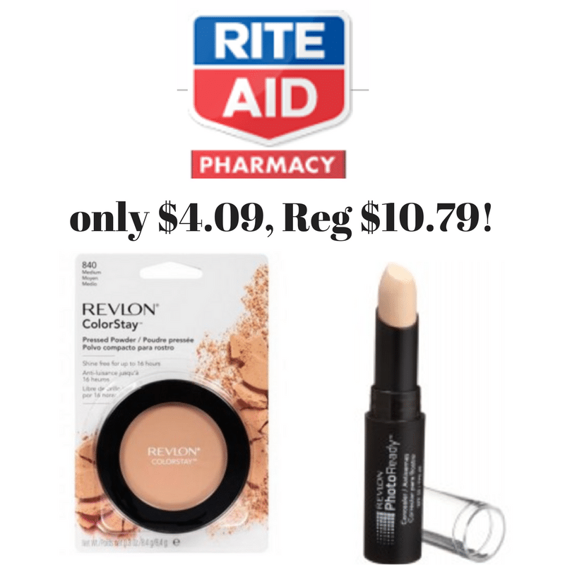 RiteAid Coupon Deal Revlon Concealer or Powder only $4.09 {Reg $10.79}