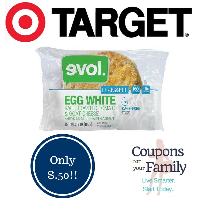 Target: Evol Breakfast Sandwiches Only $0.50