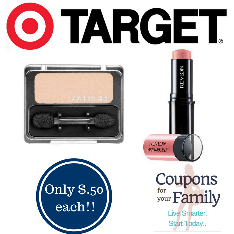 Target Coupon Deal Revlon & Covergirl Cosmetics only $.50 each!! Hurry Deal ends 3/18