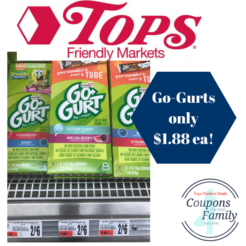 Tops coupon deals gogurt only each print coupon now for The crafts outlet coupon code