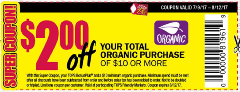 Tops Organic $2:$10
