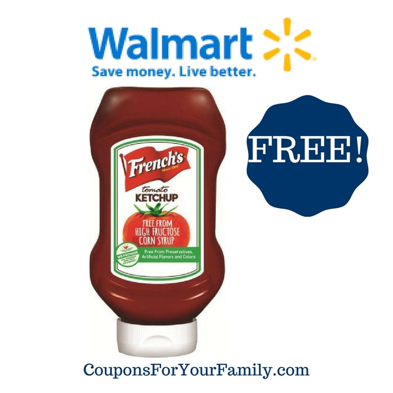 Walmart: FREE French's Tomato Ketchup + Money Maker