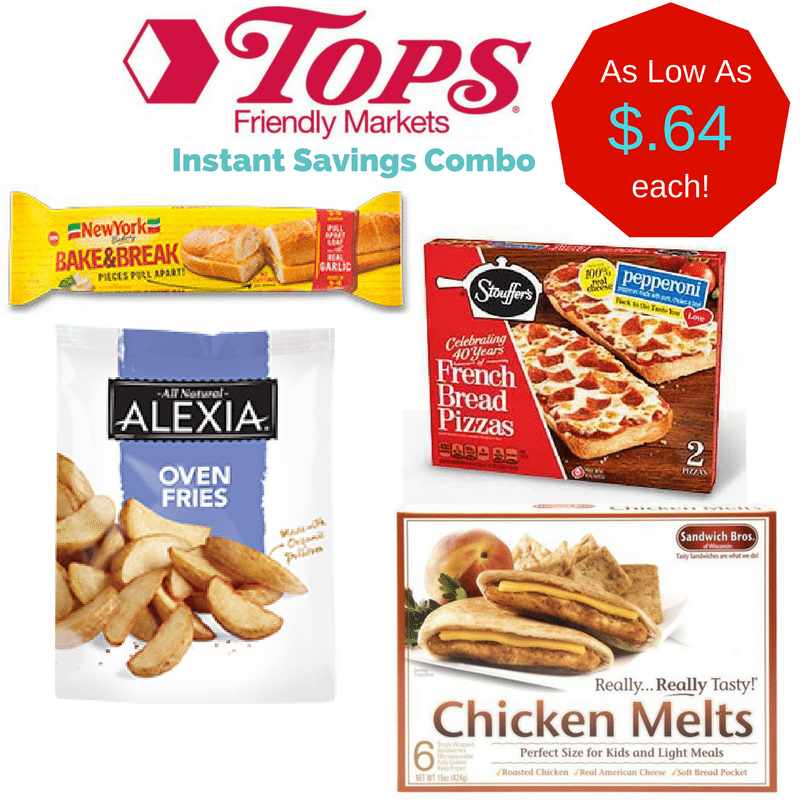 Tops Market Instant Savings Combo Deals: 8 items for only $.64 each!!!