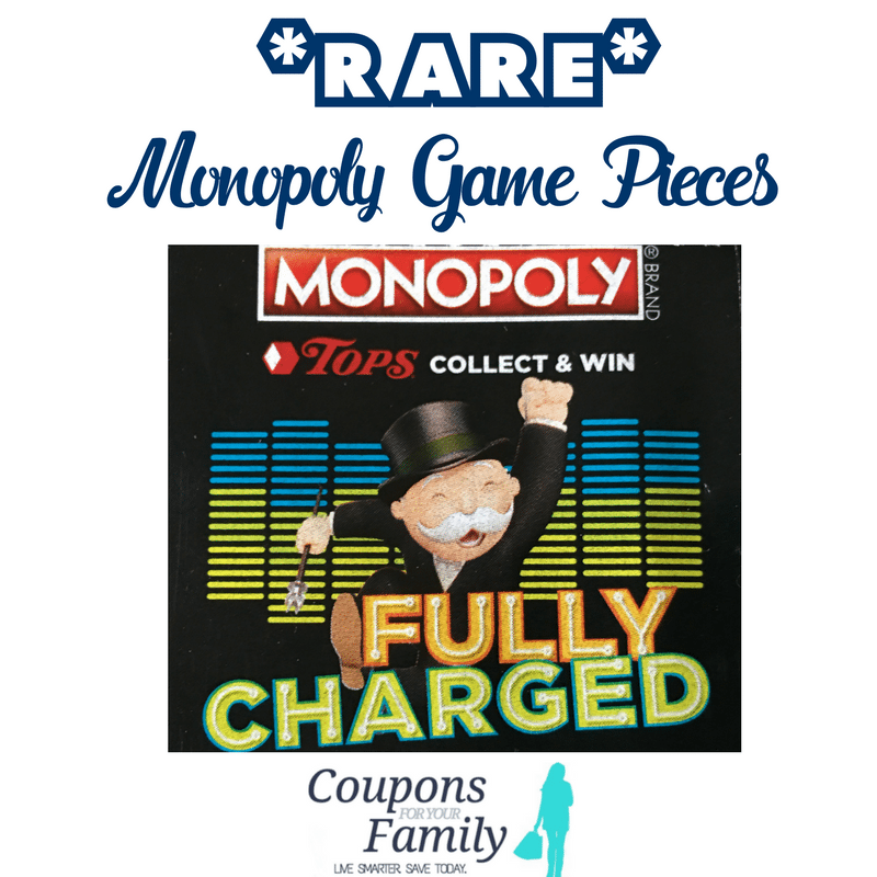 Here is a list of the RARE Tops Monopoly Game Pieces 2018– See if you have any!!