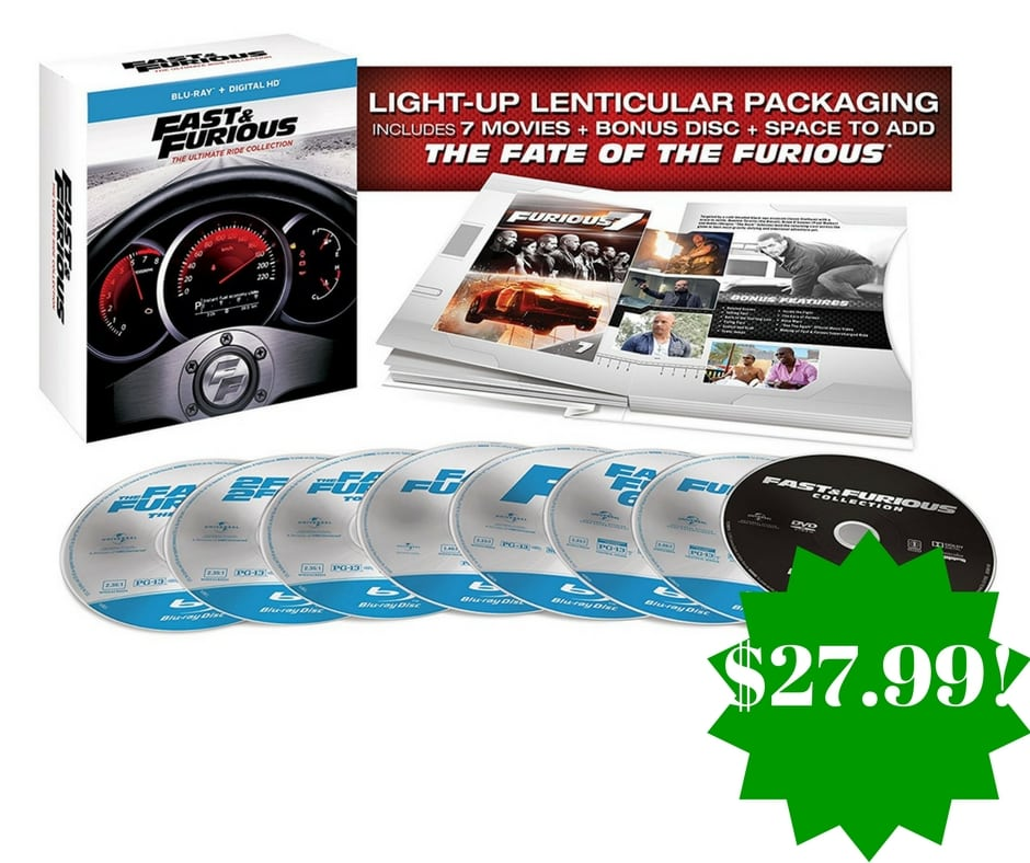 Amazon: Fast & Furious: The Ultimate Ride Collection [Blu-ray] Only $27.99 (Reg. $100, Today Only)
