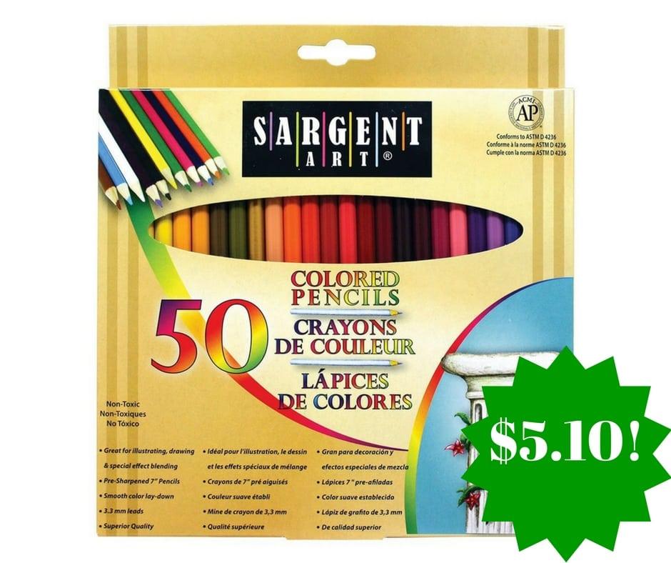 Amazon: Sargent Art Premium Coloring Pencils Only $5.10