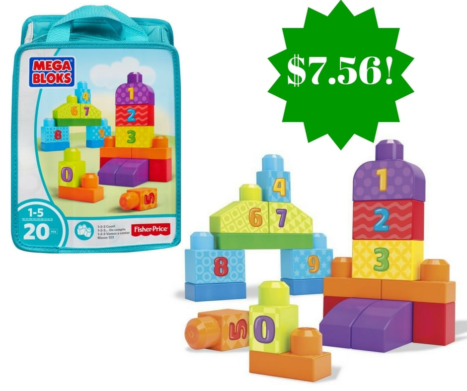 Amazon: Mega Bloks 1-2-3 Count! Bag Only $7.56 (Reg. $19.43)