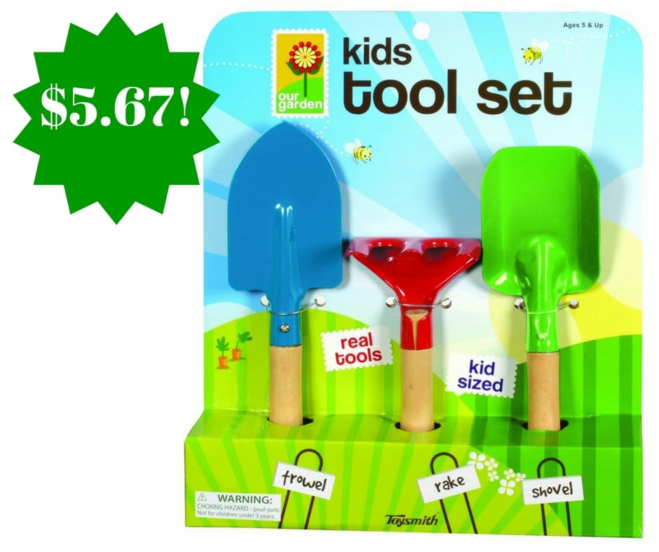 Amazon: Toysmith Kid's 3-Piece Garden Tool Set Only $5.67
