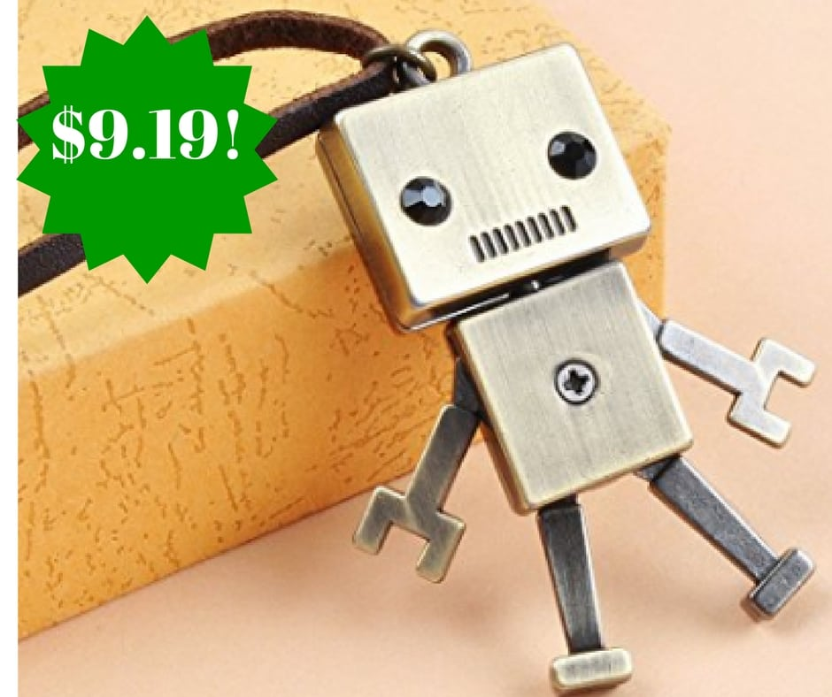 Amazon: Vintage Robot Charm Long Necklace Only $9.19