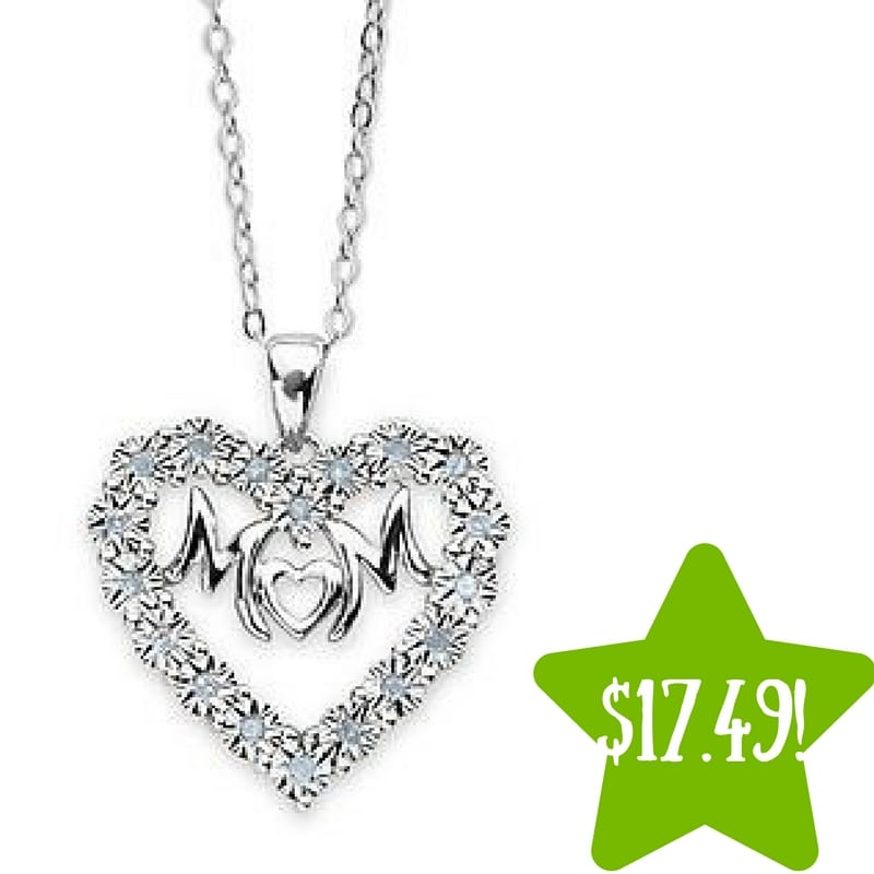 Kmart: 1/10 Cttw. Mom Diamond Pendant Only $17.49 (Reg. $350, Today Only)