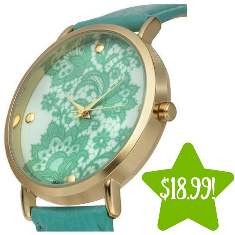 Sears: Rousseau Lace Ladies Watch Only $18.99 (Reg. $445)