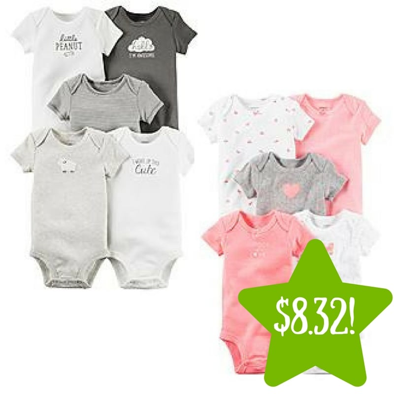 Sears: Carter's Newborn & Infants' 5-Pack Bodysuits Only $8.32 (Reg. $26)