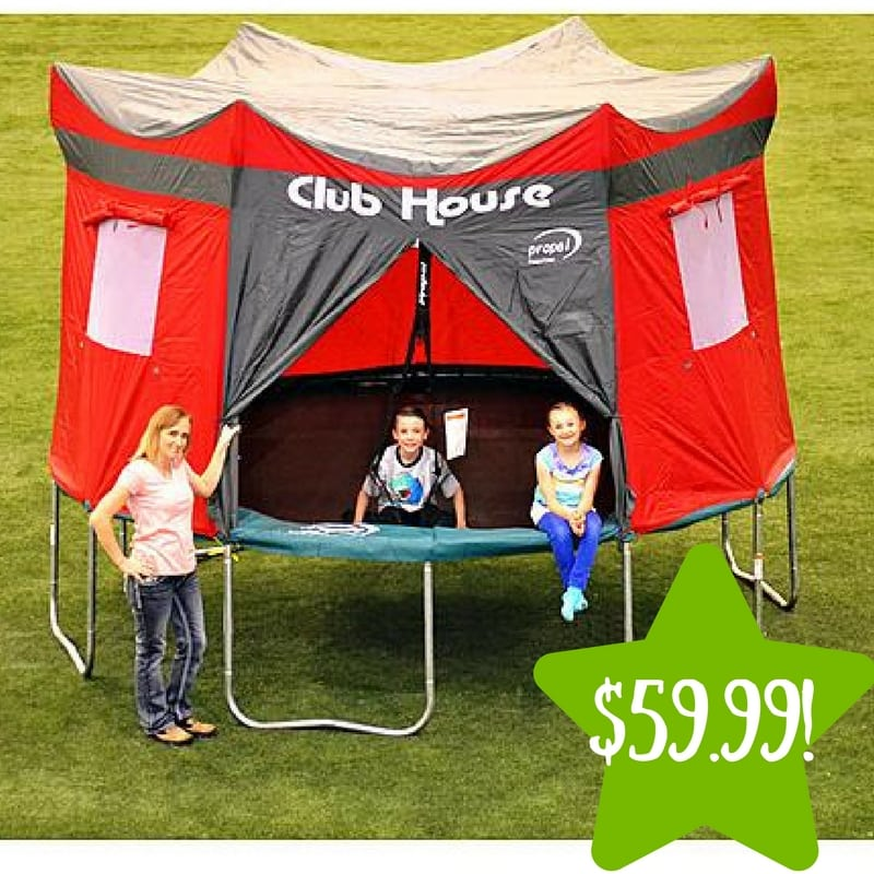 Sears: 12′ Trampoline Clubhouse Tent Accessory Kit Only $59.99 (Reg. $80)