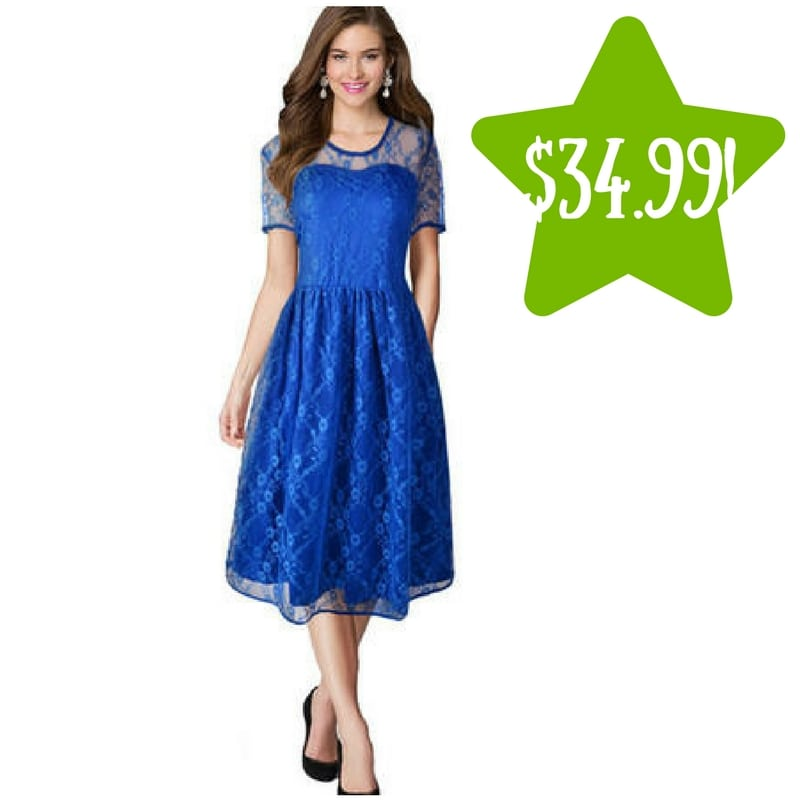Sears: Zumeet Lace Decorated Blue Dress Only $34.99 (Reg. $100, Today Only)