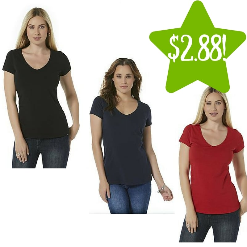 Kmart: Attention Women's V-Neck T-Shirt Only $2.88 (Reg. $5)