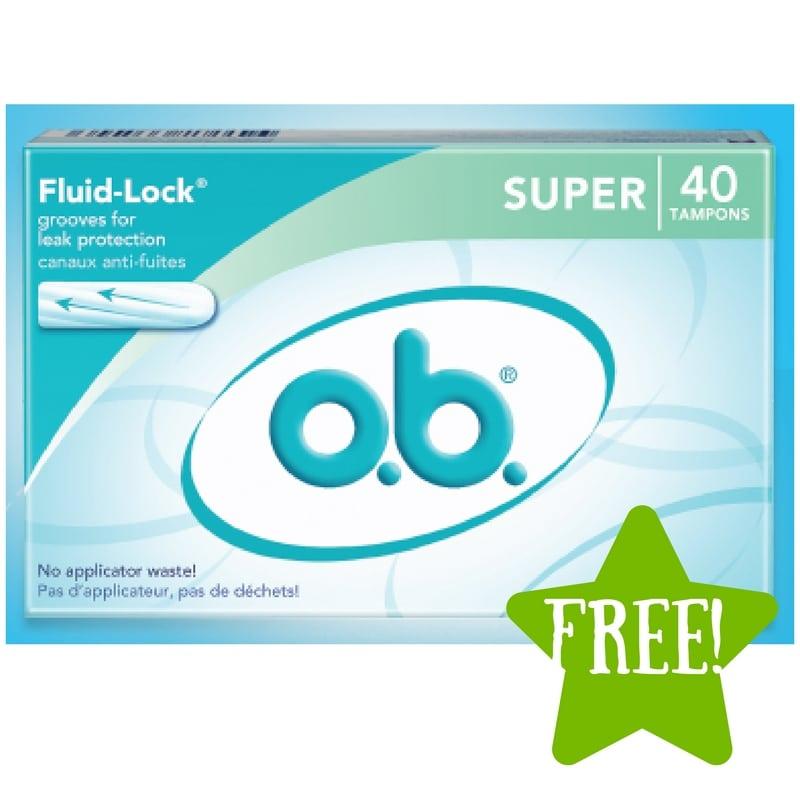 FREE o.b. Original Super Tampons or Coupon