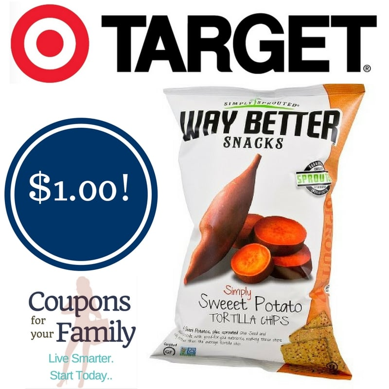 Target: Way Better Snacks Sprouted Chips Only $1.00