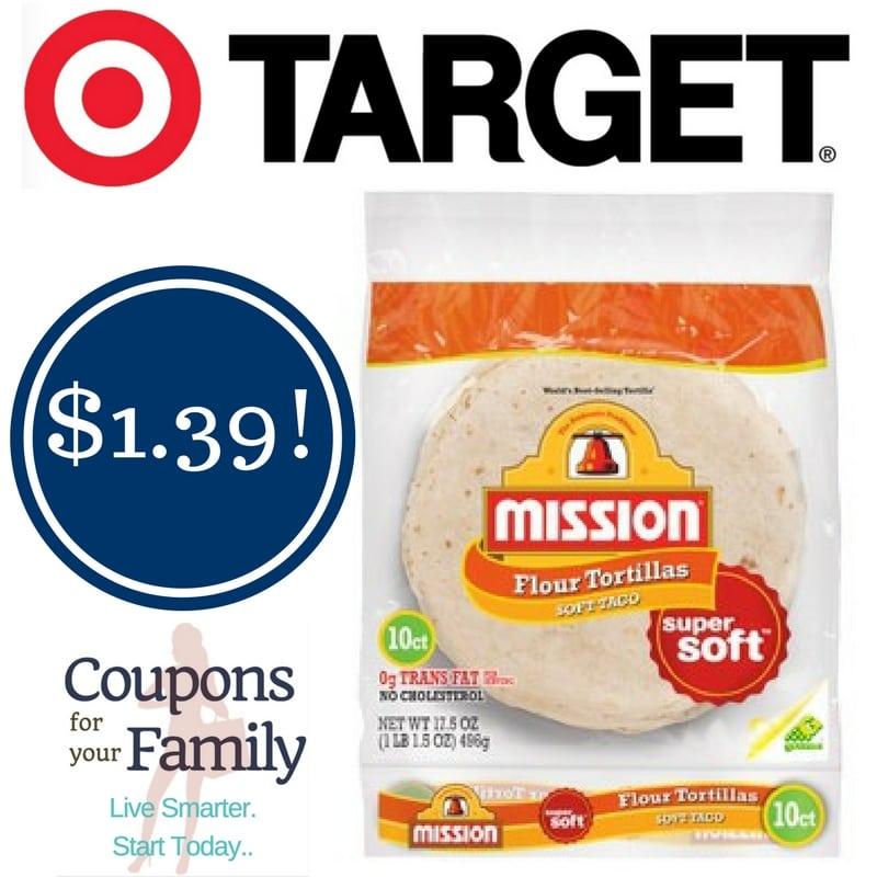 Target: Mission Super Soft Tortillas Only $1.39