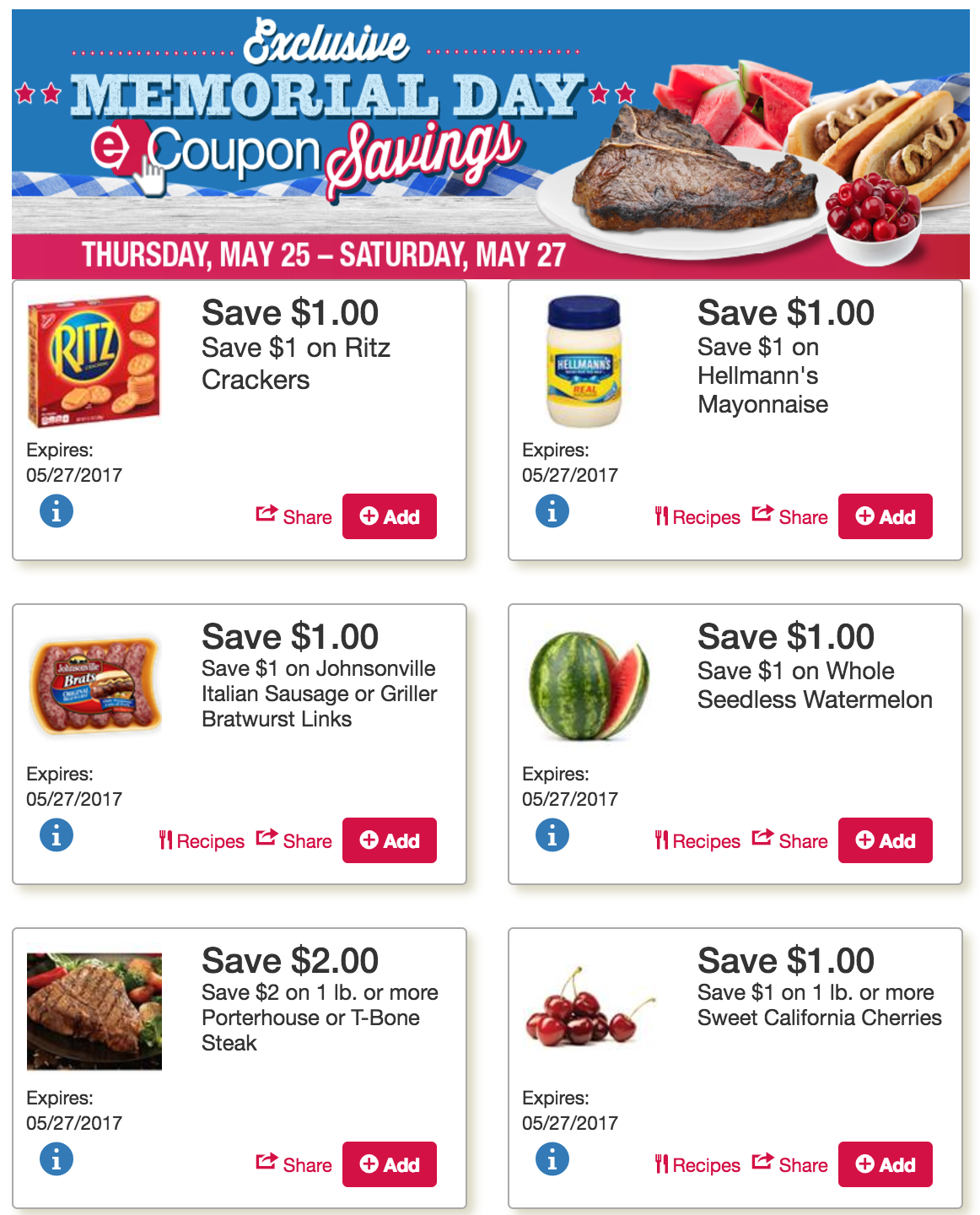 Get these Late Week TOPS MARKETS COUPONS & Savings thru Saturday 5/27!