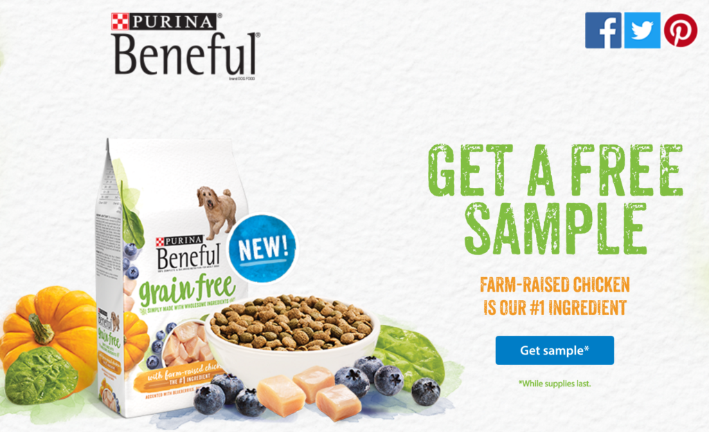 FREE Sample Purina Dog Food while supplies last..get yours now! |