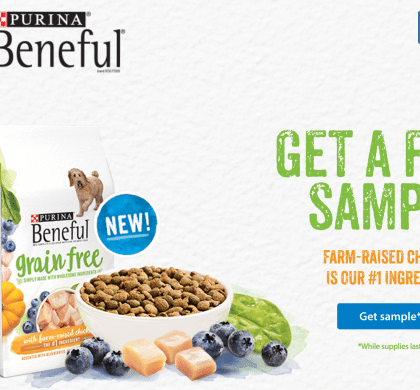 FREE Sample Purina Dog Food while supplies last..get yours now!