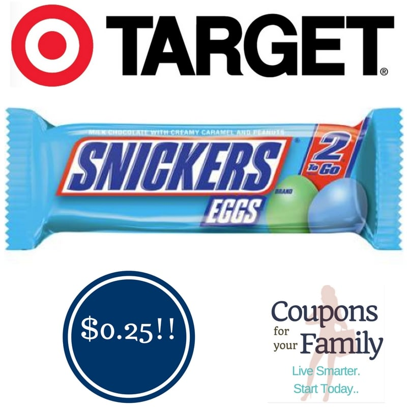 Target: Snickers Eggs Only $0.25