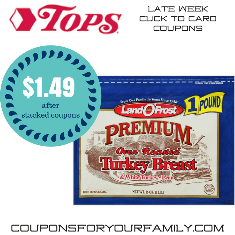Tops Markets coupon stack~~ Land O Frost Lunchmeat only $1.49 and more!